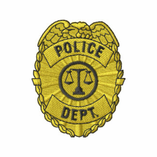 Police Dept. Badge Embroidered Shirt