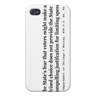 Police Dept of Chicago v Mosley 408 US 92 96 1972 iPhone 4 Cases
