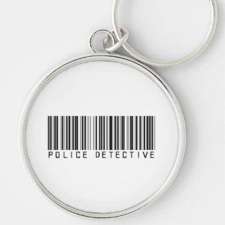 Police Detective Bar Code Keychain