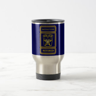 Police Detective Retired Badge Travel Mug