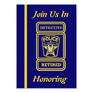 Police Detective Retirement Invitation