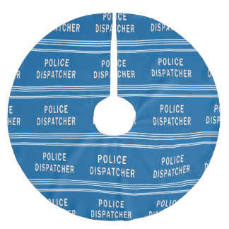 Police Dispatcher Brushed Polyester Tree Skirt