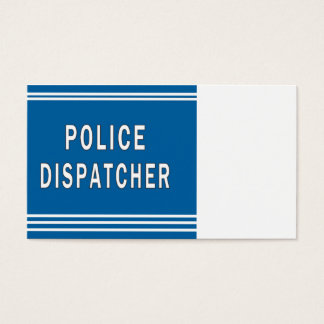 Police Dispatcher Business Card
