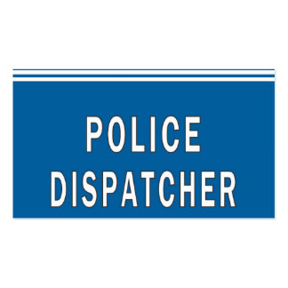 Police Dispatcher Double-Sided Standard Business Cards (Pack Of 100)