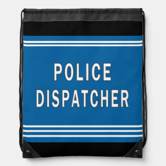 Police Dispatcher Drawstring Bag