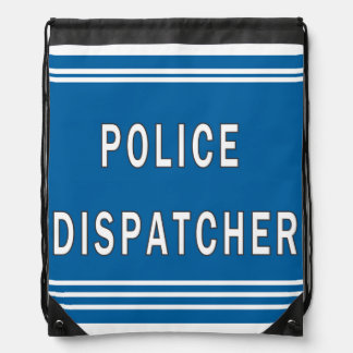 Police Dispatcher Drawstring Bag