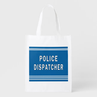 Police Dispatcher Grocery Bag