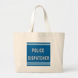 Police Dispatcher Large Tote Bag