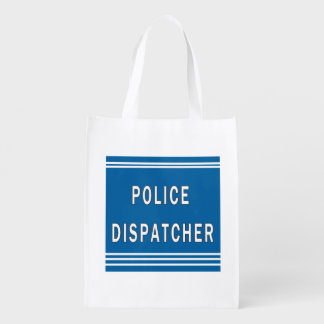 Police Dispatcher Reusable Grocery Bag