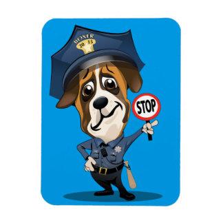 Police dog boxer magnet