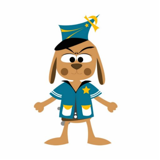Police dog cartoon photo sculpture keychain