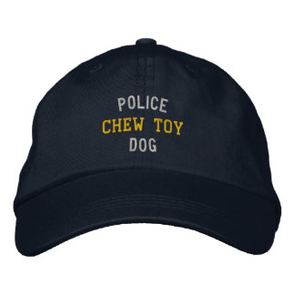 Police Dog Chew Toy Embroidered Baseball Hat