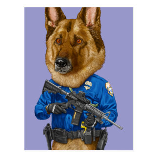 Police Dog Post Cards
