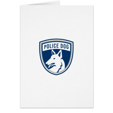 police-dog-side-Police Dog Shield Mascot Card