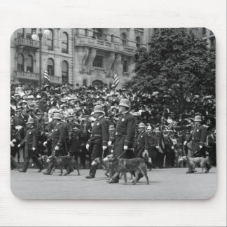 Police Dogs on Parade: early 1900s Mouse Pad