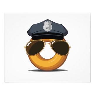 Police Donut Flyer