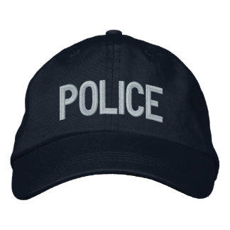 POLICE EMBROIDERED BASEBALL HAT