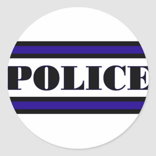 Police Family Classic Round Sticker