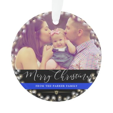 Police Family | Custom Photo Ornament