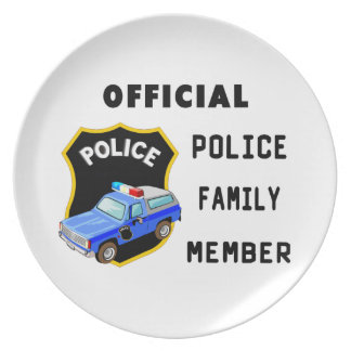Police Family Dinner Plate