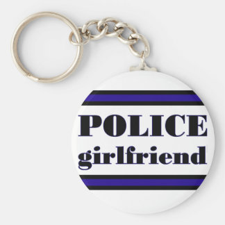 Police Family Basic Round Button Keychain