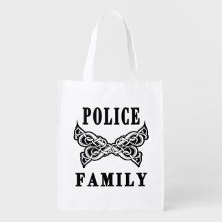 Police Family Tattoo Reusable Grocery Bag