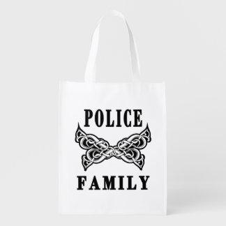 Police Family Tattoo Reusable Grocery Bag