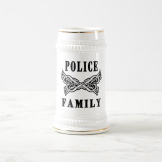 Police Family Tattoos Beer Stein