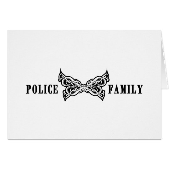 Police Family Tattoos Card