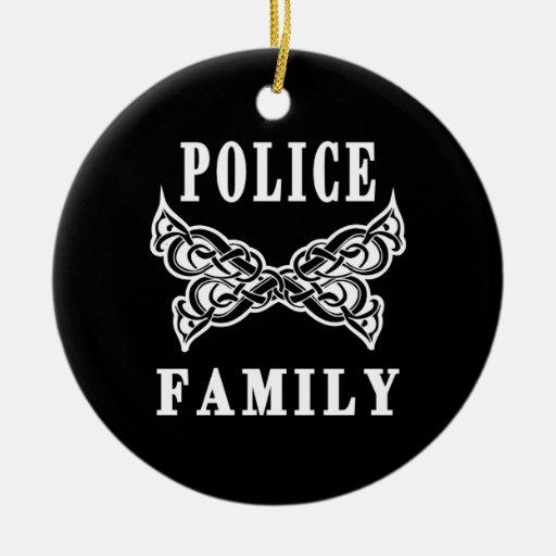 Police Family Tattoos Ceramic Ornament