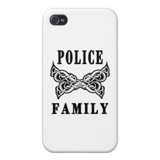 Police Family Tattoos Cover For iPhone 4