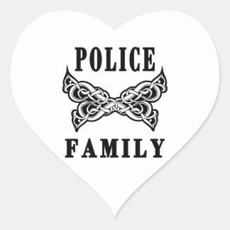 Police Family Tattoos Heart Sticker