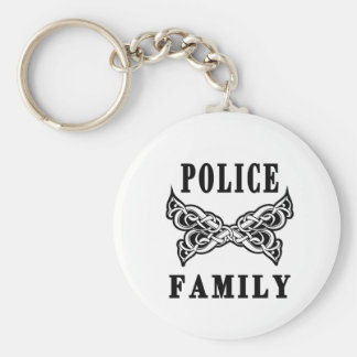Police Family Tattoos Keychains