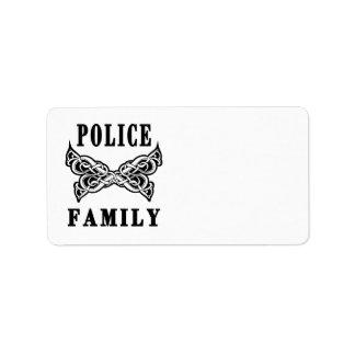 Police Family Tattoos Address Label