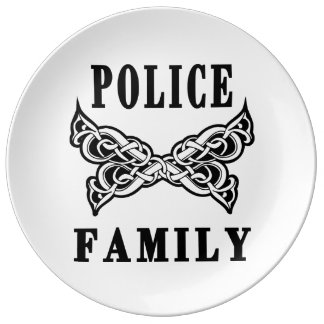 Police Family Tattoos Plate