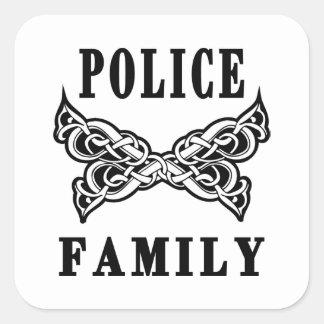 Police Family Tattoos Square Sticker