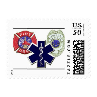 Police, fire, ems postage