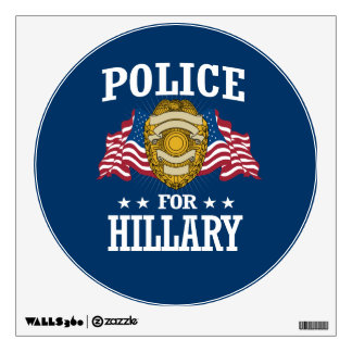 POLICE FOR HILLARY WALL DECAL