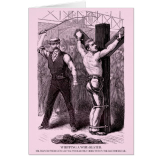 Police Gazette notecard Whipping