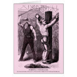 Police Gazette notecard Whipping Greeting Cards