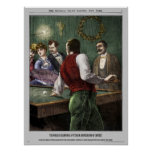 Police Gazette poster Billiards
