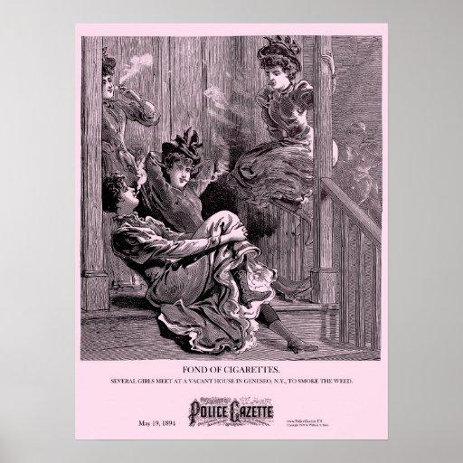 Police Gazette poster Cigarettes