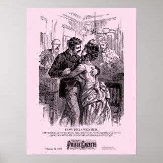 Police Gazette poster Loved Her