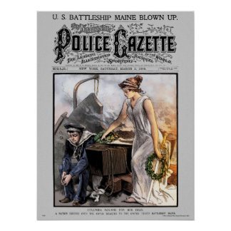 Police Gazette poster Maine