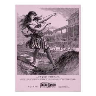 Police Gazette poster Sandwich Island Girl