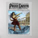 Police Gazette poster Sandwich Island Girl (color)