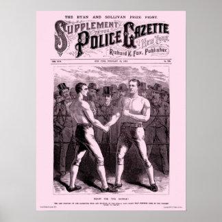 Police Gazette poster Sullivan Ryan