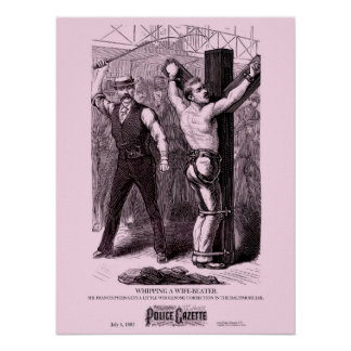 Police Gazette poster Whipping