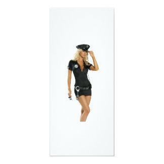 Police girl card