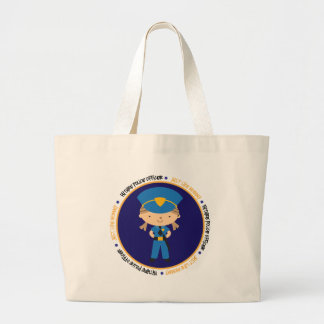 Police Girl Like Daddy Large Tote Bag